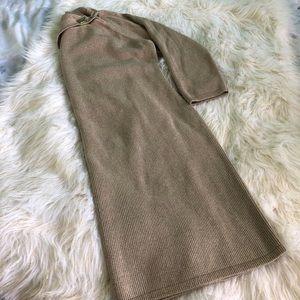 NWOT Calvin Klein Pin-Detail Gold Sweater Dress